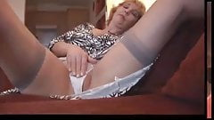 Mature Milf In Stockings Strips