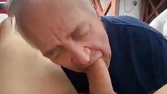 Lovely grandpa sucking a friend's cock