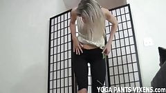 I love when men stare at my ass in yoga pants JOI