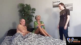Fucking my milf Sally in front of StepDad