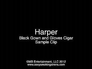 Drew barrymore naked photos - Harper black gown and gloves cigar