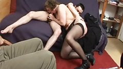 He watches his wife Francoise fucked in a threesome
