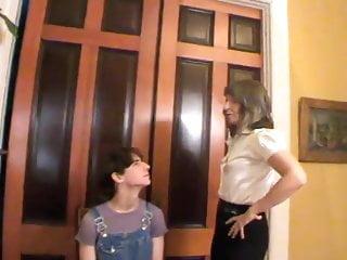 Beginer femdom - Mrs loving begins sissy training at mothers request