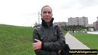 Outdoors fucked picked up amateur gets jizzed