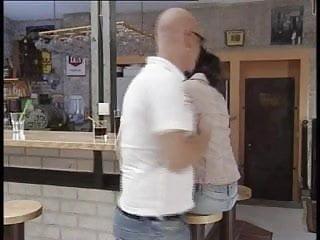 Superhot pornstar wife Superhot euro brunette fucked hard in a cafe
