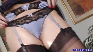 British posh cougar in lingerie pulls young bloke