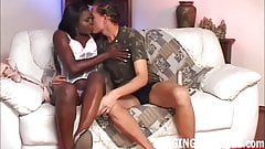 My big black strapon is going deep in your ass white boy