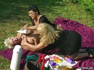 Amateur granny lesbians - Granny lesbians having fun outdoor