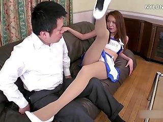 Pantyhosed cum - Nylon footjob pantyhose cum stockings feet