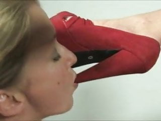 Sexy high arch worship lesbians - Foot worship - dia zerva - red high heels and bare feet