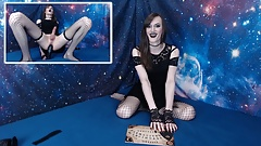horny gothic slut summon a ghost and ride bbc