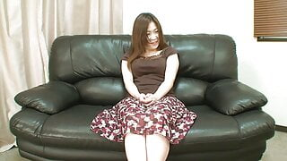 Japanese POV amateur audition - creampie in hairy pussy