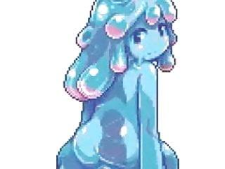 Teen bondage slime Blue slime girl