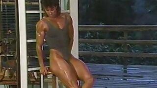 Joanne McCartney - grey leotard, indoor