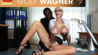 Filthy secretary craves for the boss cock! wolfwagner.com