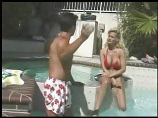 Swiming pool sex video - Busty slut fucks her hubby by the swiming pool