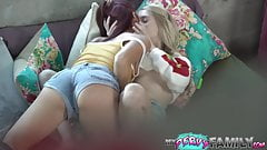 Watching My Lesbian Sister Lick Her Best Friends Pussy
