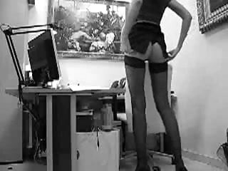 Pantyhose secretaries Long legged secretary gets a quickie from behind