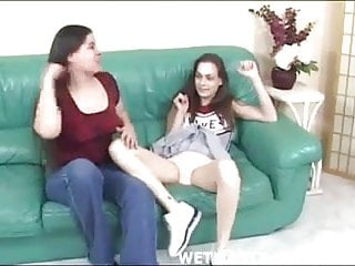 Lesbian cheerleader squad 3 - Cheerleader lets her squad mate lick her panties