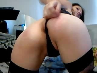Girl fist Sexy girl fist and use big anal toy