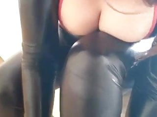 Super freaky latex shemales - Super hot milf in latex heels