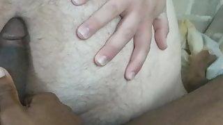 White chub riding black dick