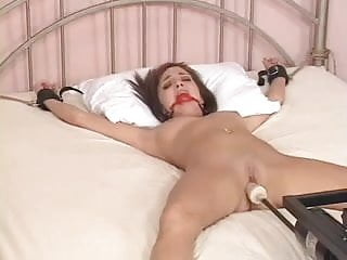 Charlie laine blowjob - Charlie laine tied to bed and fucked by machine