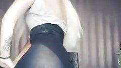 Tiktok sexy girl see through leggings - 2