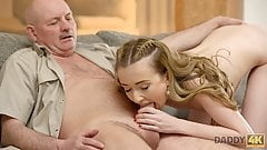 DADDY4K. Lucky old man receives blowjob and fucks tight