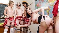 VR BANGERS Classroom Valentines Day Sex Party With Hot Babes