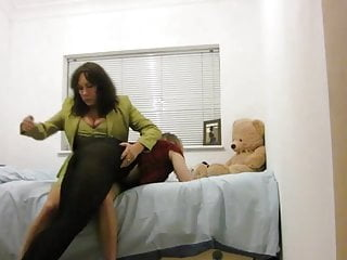 Beautiful bottom otk spanked - Spanked otk then put in closet