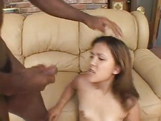 Asian face picture Black dick cums on asian face