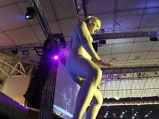 Seattle erotic art Lola taylor squirting on stage at athens erotic art 2016