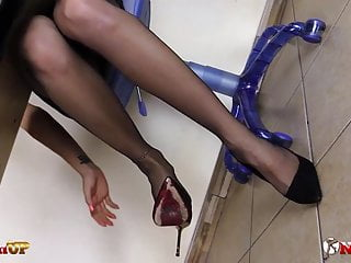 Forced office sissy stories femdom Teacher in stockings forces you to suck her strapon