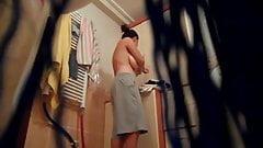 spy girl in bath