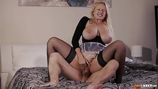 busty blonde fucked