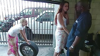 Two babes Gangbanged After Their Car Breaks Down