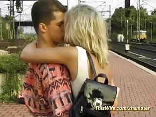Germans fuck on a train German couple fucks at the train