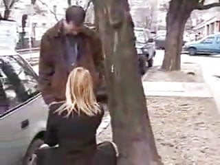 Big dicks sucked on street Blonde girl sucks her friends dick on the street