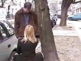 Male sucking friends dick video Blonde girl sucks her friends dick on the street