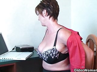 Anal play porn British grannies joy and becky love anal play