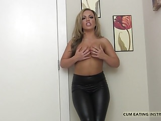 You jizz cum shots - I am going to make you eat your own jizz cei