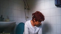 granny on the toilet