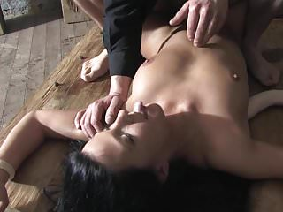 Hog tide xxx Superhot tide up chick licks ass and gets throated dtd