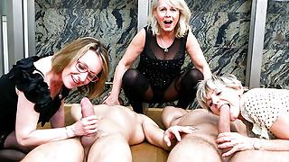 3 grannies 2 cocks