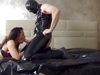 Latex angel free Rimjob - fucking with tongue