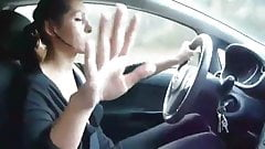 Ladies giving a hand job while driving