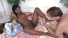 Yara Skye Loves To Stroke a Hard Cock With Her Feet