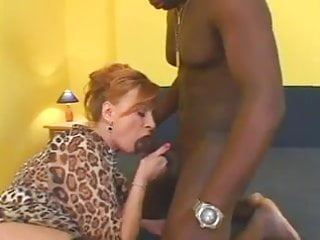 Hairy male nuts - Granny gets a black nut in her bush