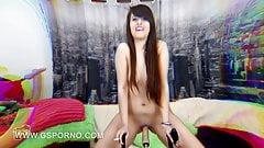 Porn machine of teen Nikki Litte